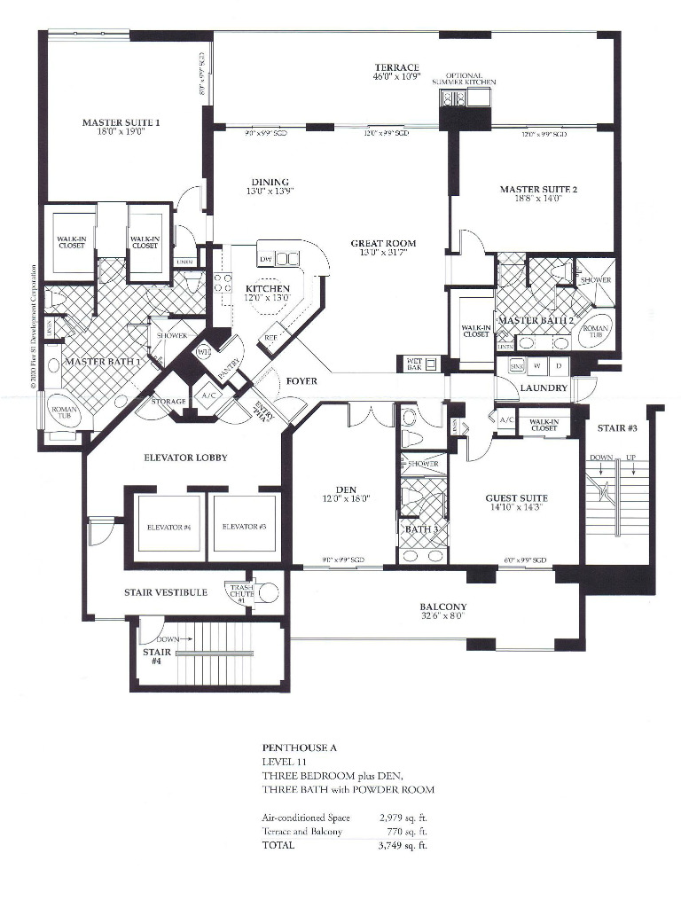 Waterfront Condo Floor Plans - Pier 81 - Marco Island, FL